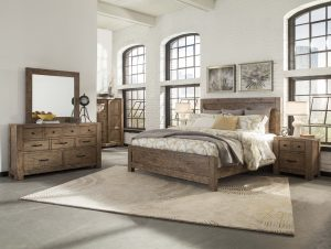 B4208-panel bed door chest